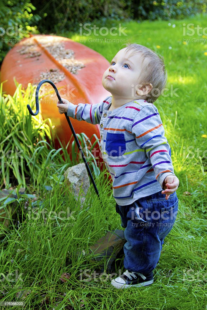 Curious One Year Old Boy royalty-free stock photo