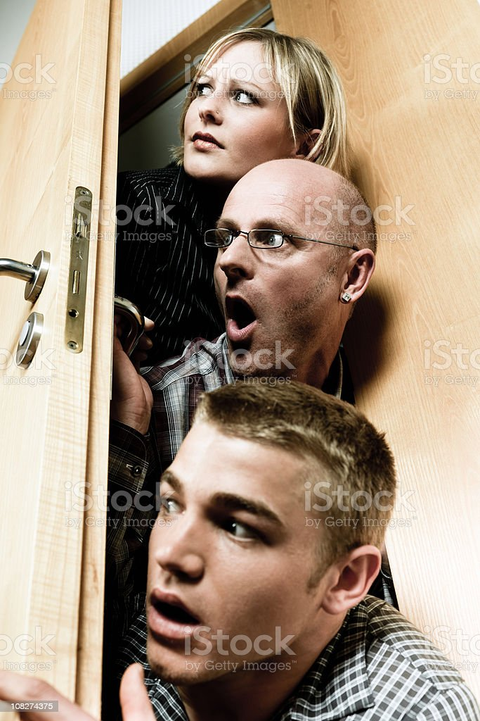 Curious People royalty-free stock photo