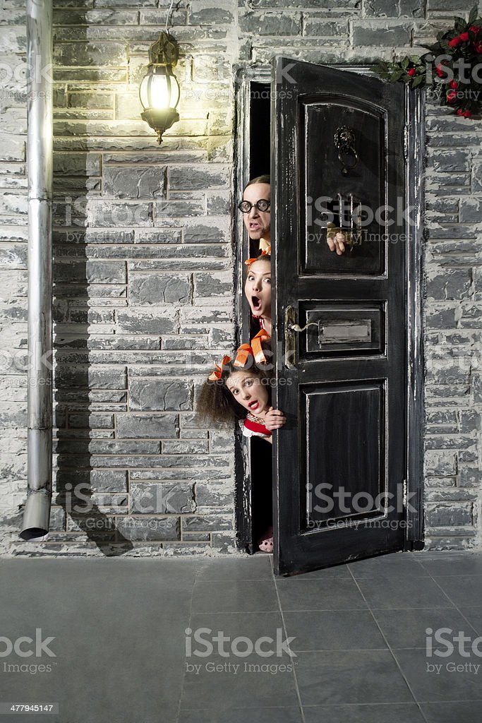 Curious people stock photo