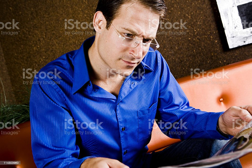 Curious Reader royalty-free stock photo