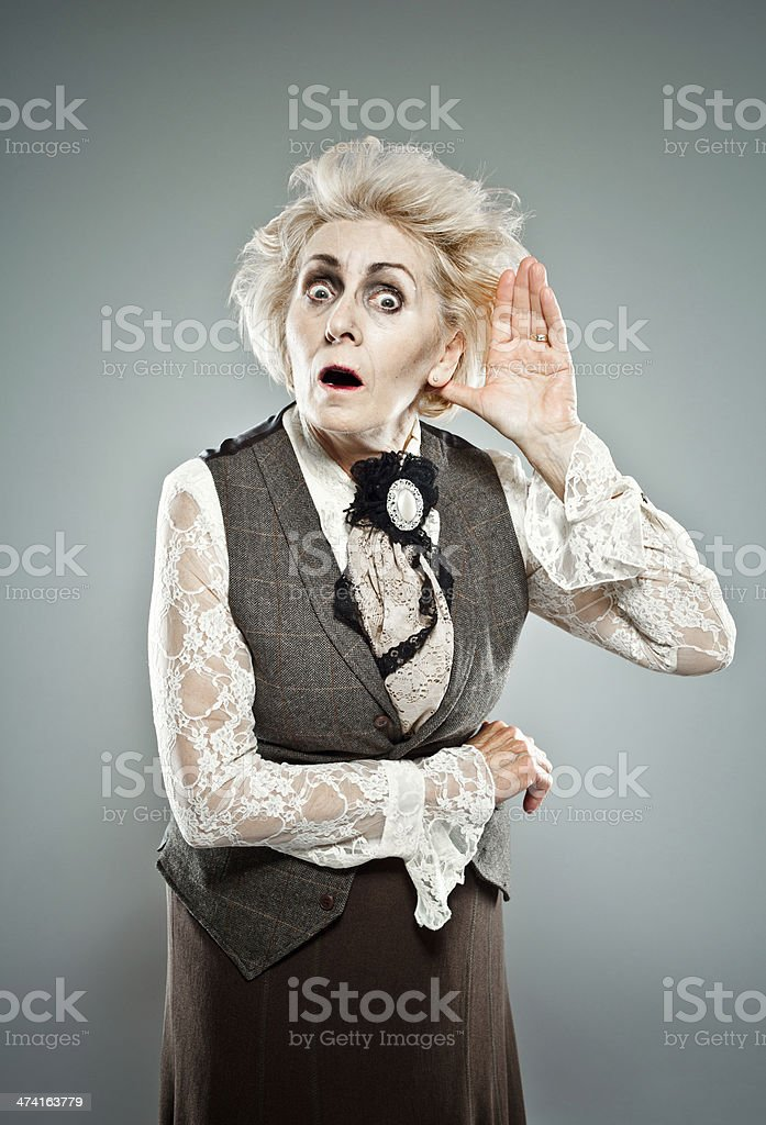 Curious senior lady royalty-free stock photo