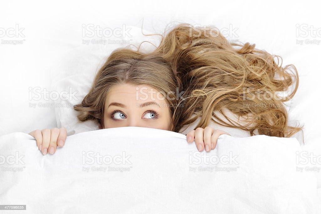 curious woman stock photo