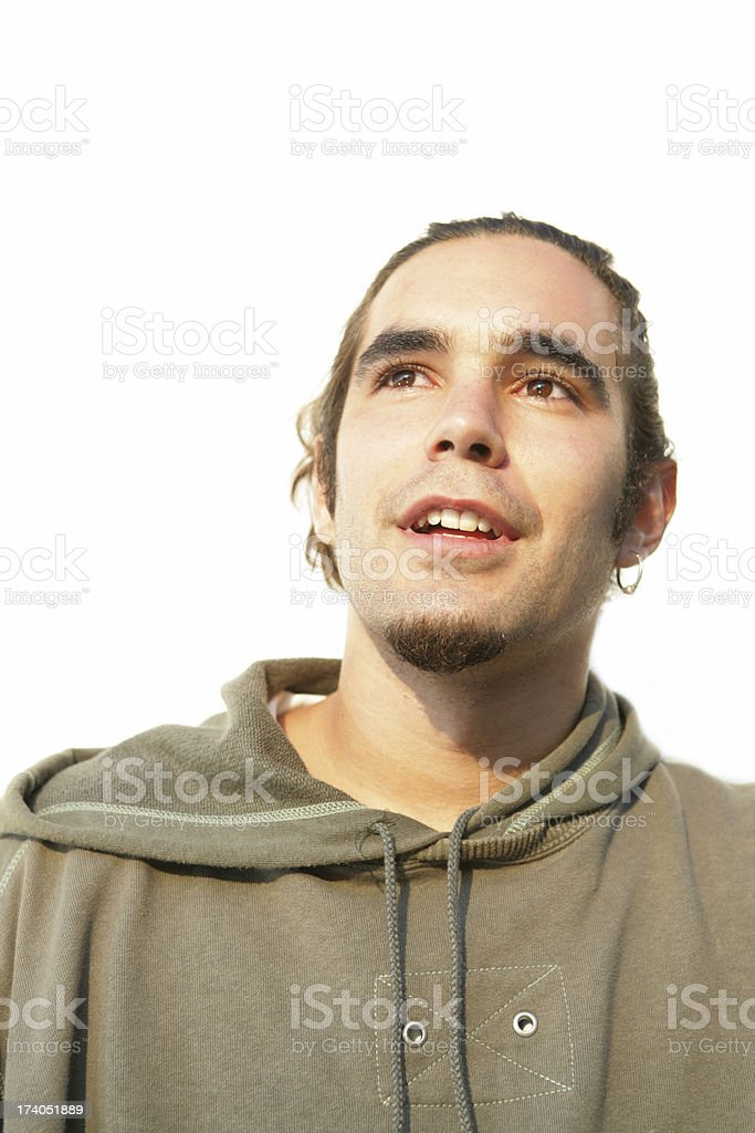 Curious young man royalty-free stock photo