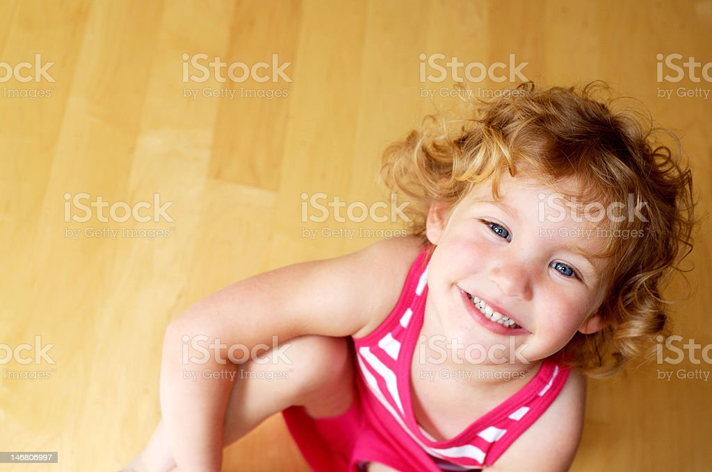 Curl Girl stock photo