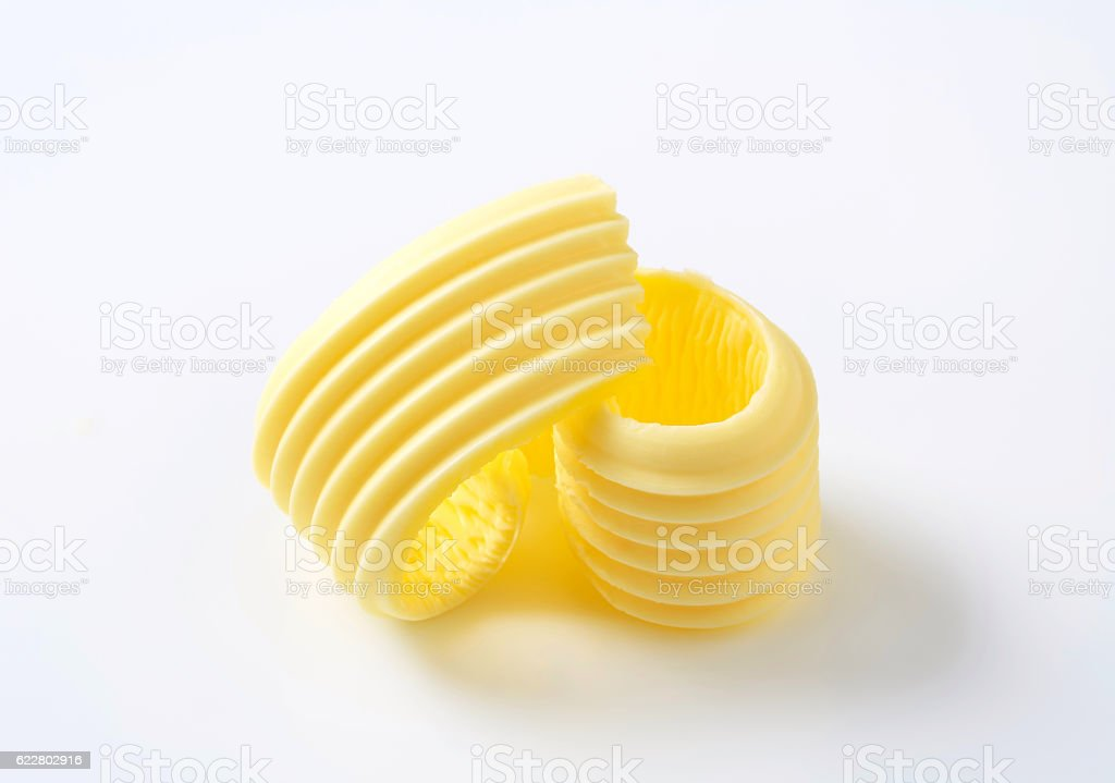 Curl of fresh butter stock photo