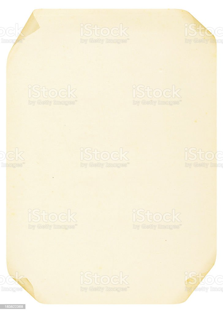 Curled A4 Blank Paper (High Resolution Image) stock photo