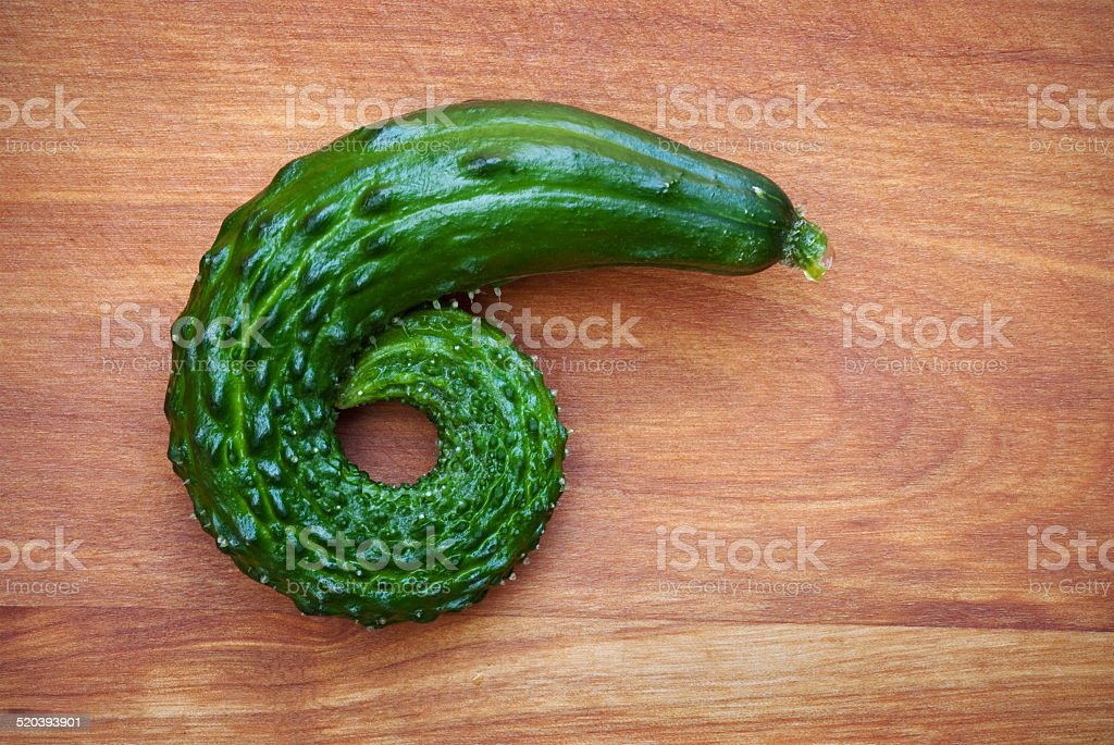 Curled Cucumber stock photo