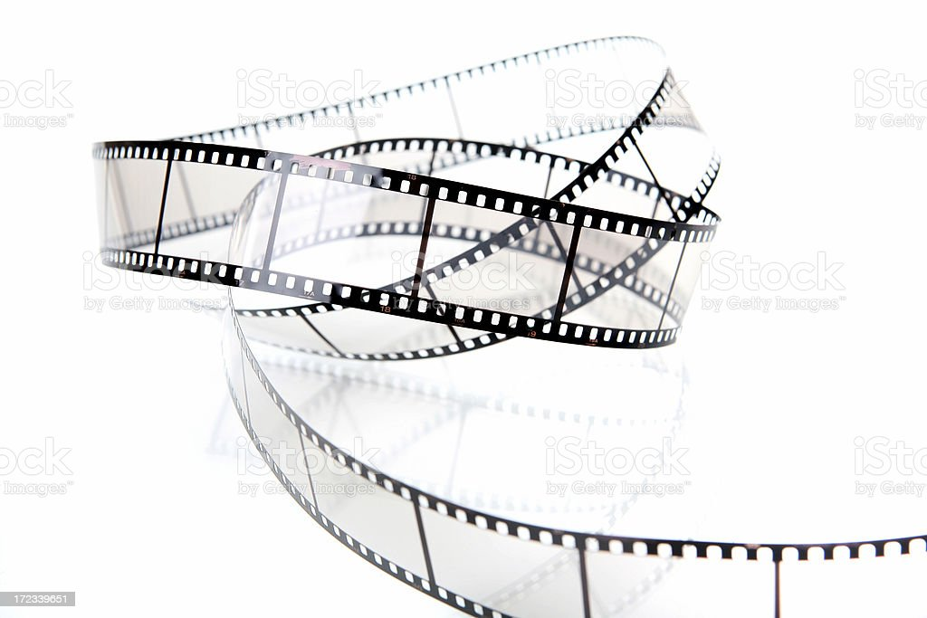 Curled film royalty-free stock photo