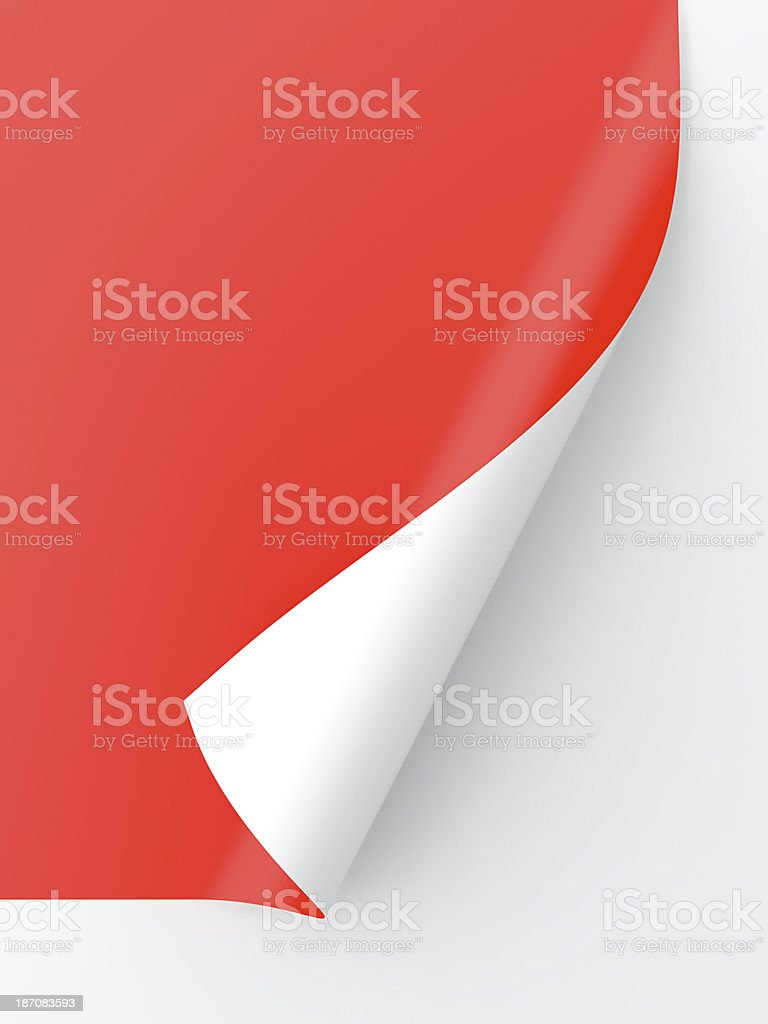 Curled paper stock photo