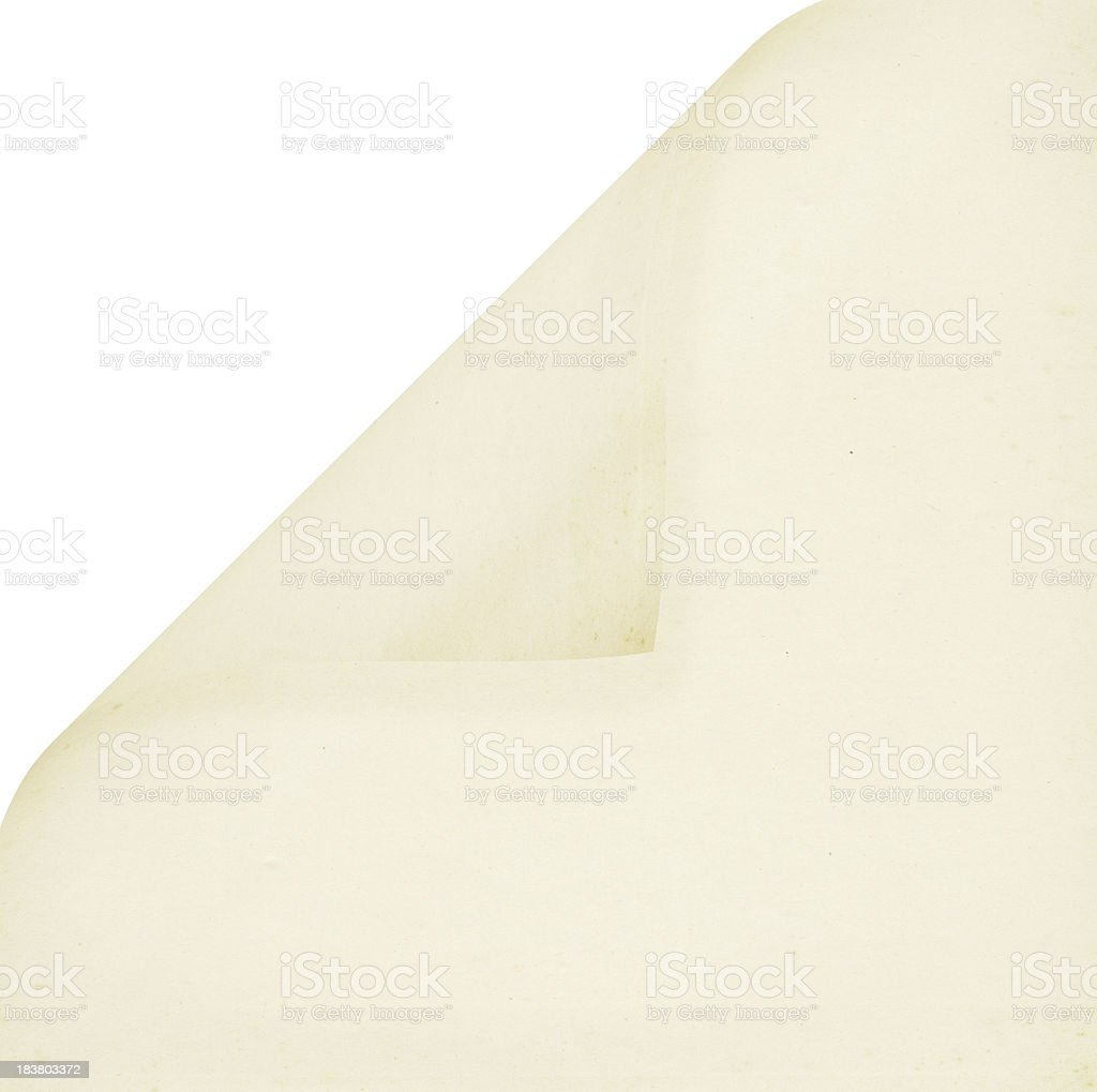 Curled Square Blank Paper (High Resolution Image) stock photo