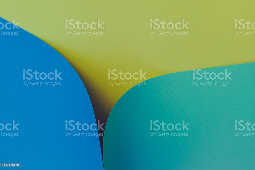 curled up construction paper sheet. stock photo