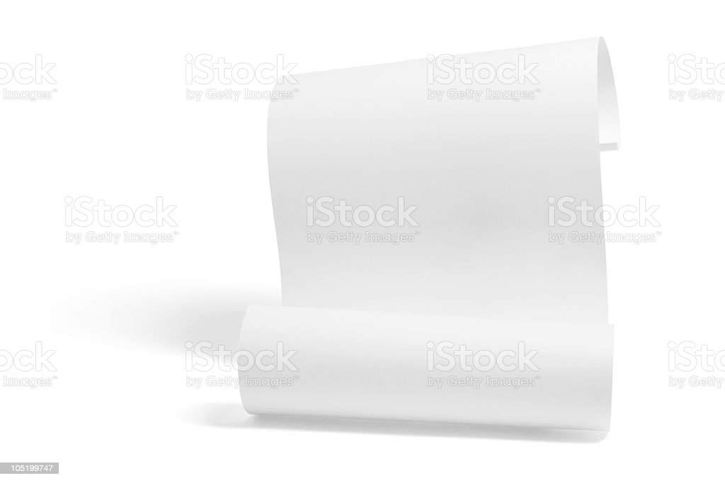 Curled Up Paper stock photo