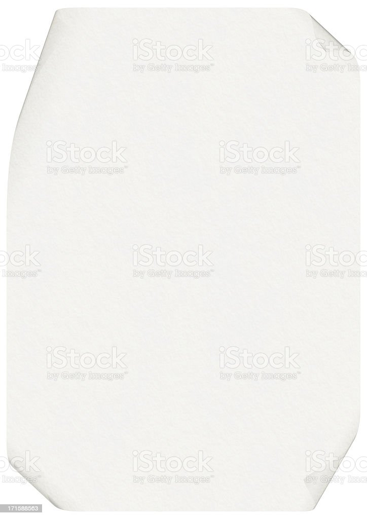 Curled-Up A4 White Paper (High Resolution Image) stock photo