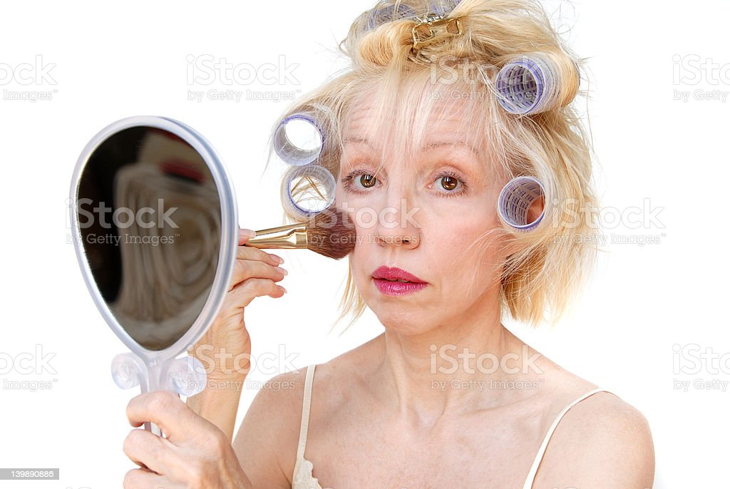 Curler Woman royalty-free stock photo