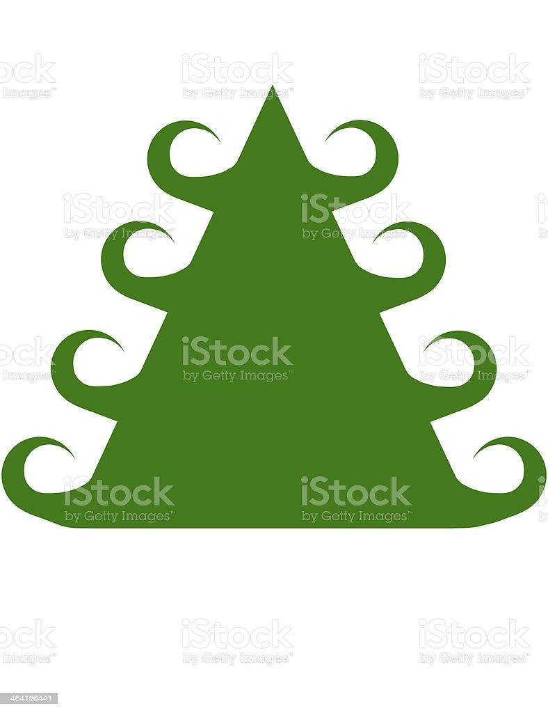 Curley Green Christmas Tree stock photo