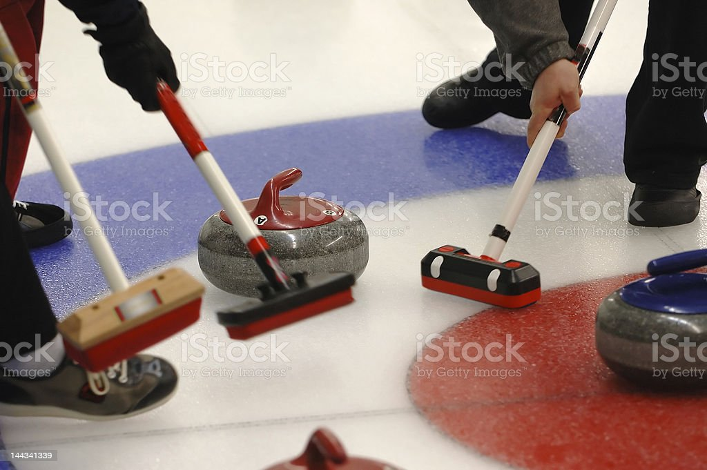 Curling Action stock photo