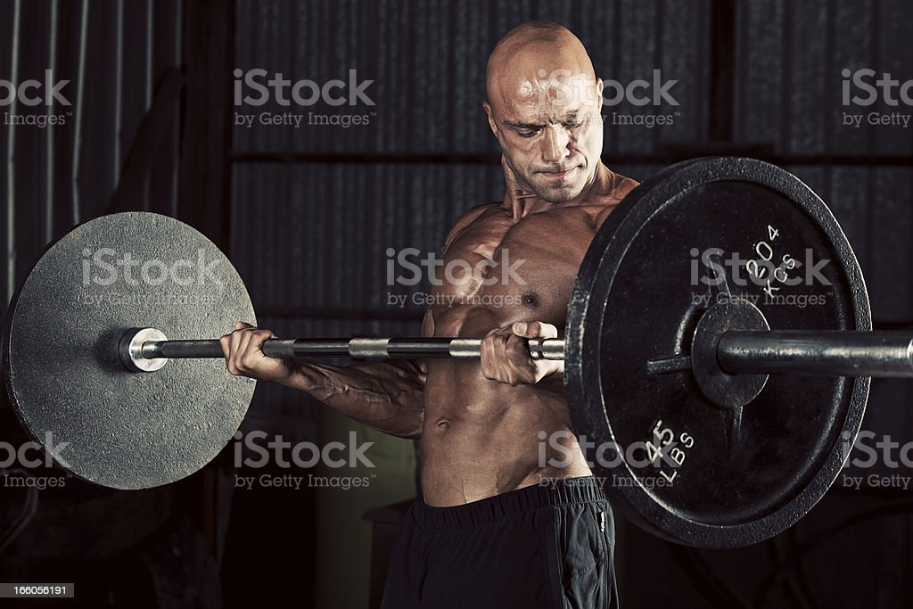 Curling barbell royalty-free stock photo