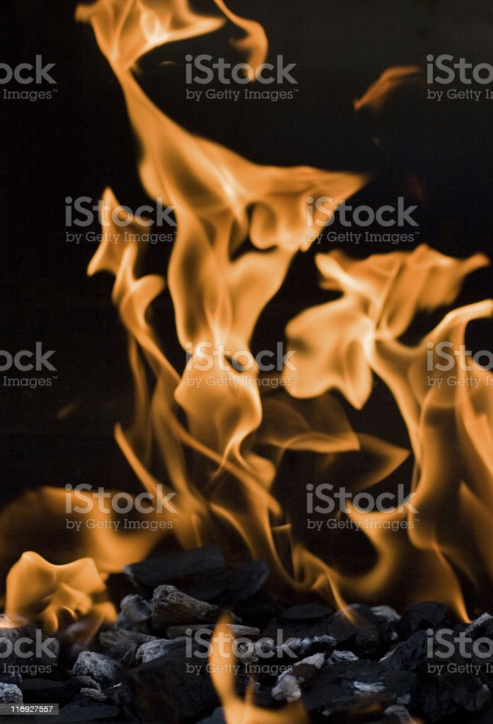 Curling Flames royalty-free stock photo