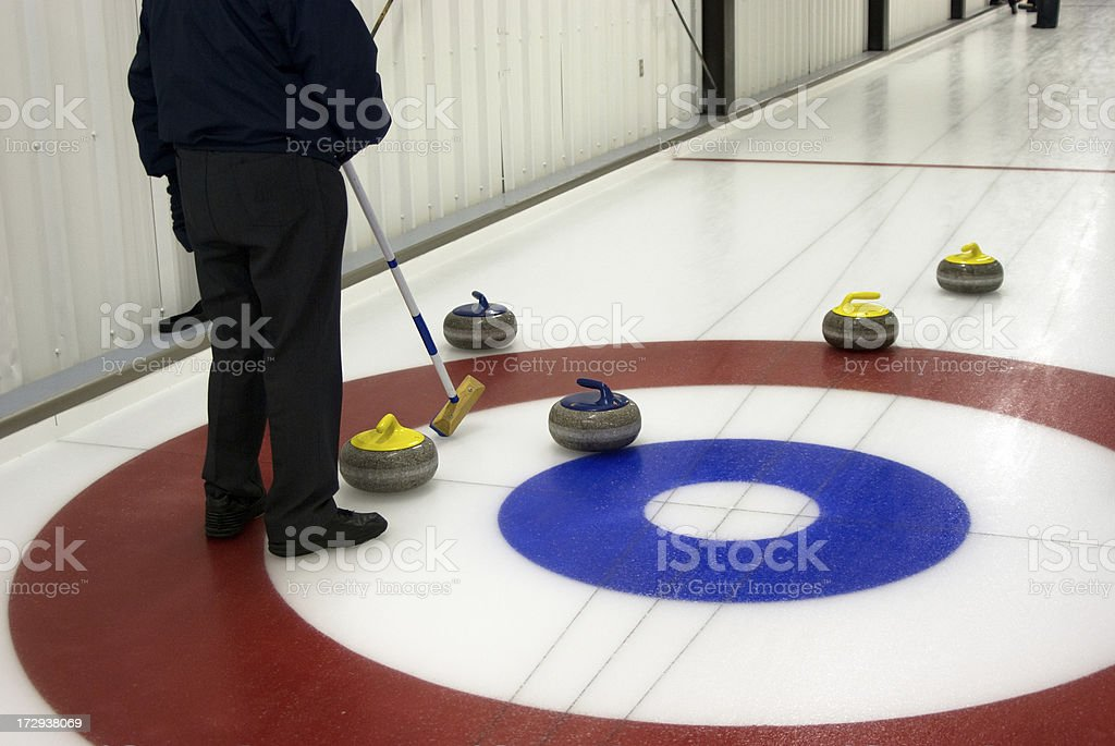Curling Game stock photo