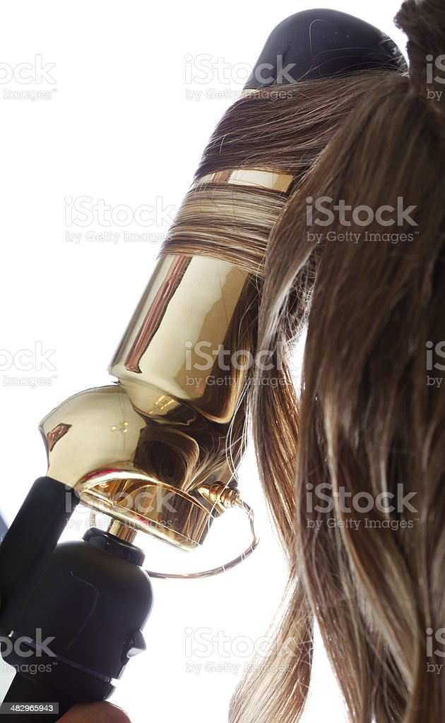 Curling Hair stock photo