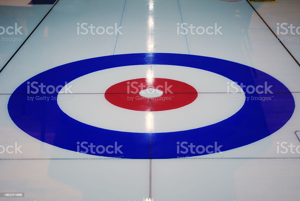 Curling Ice Rink stock photo