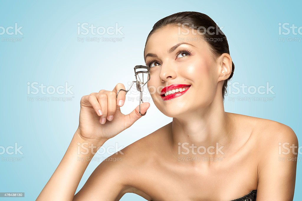 Curling lashes. stock photo