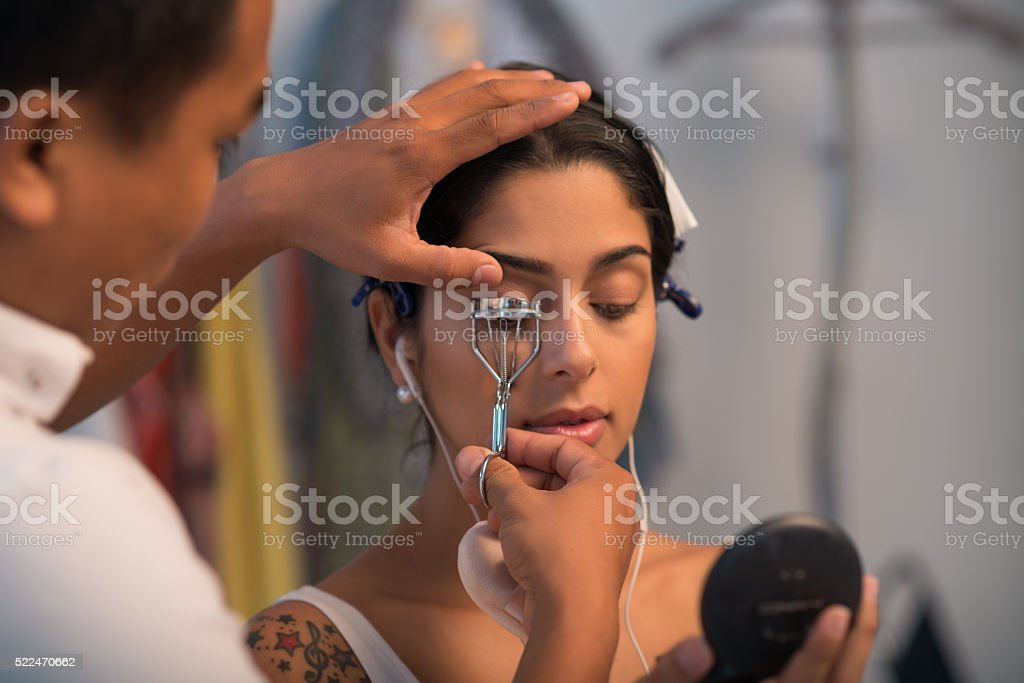 Curling lashes stock photo