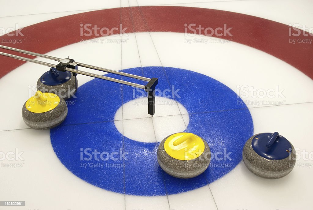 Curling Measurement stock photo