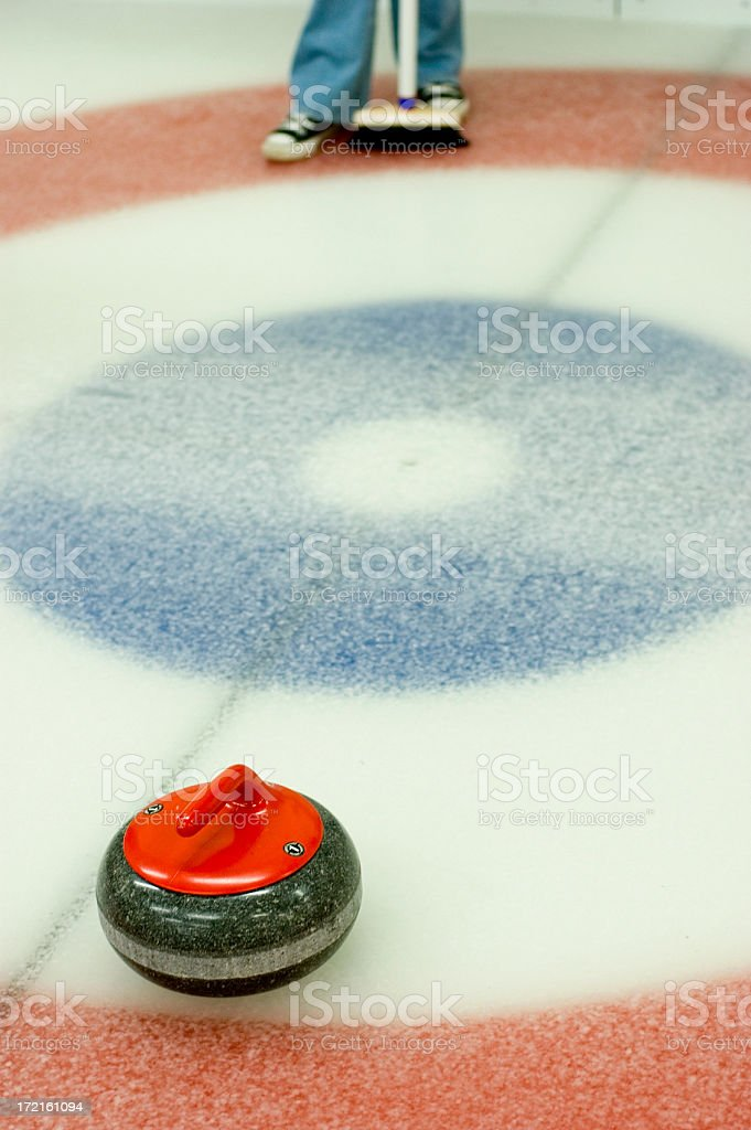 Curling Rock in the House stock photo