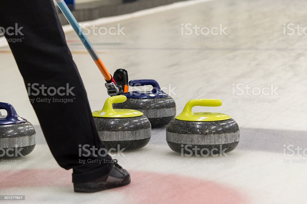 Curling Skip stock photo