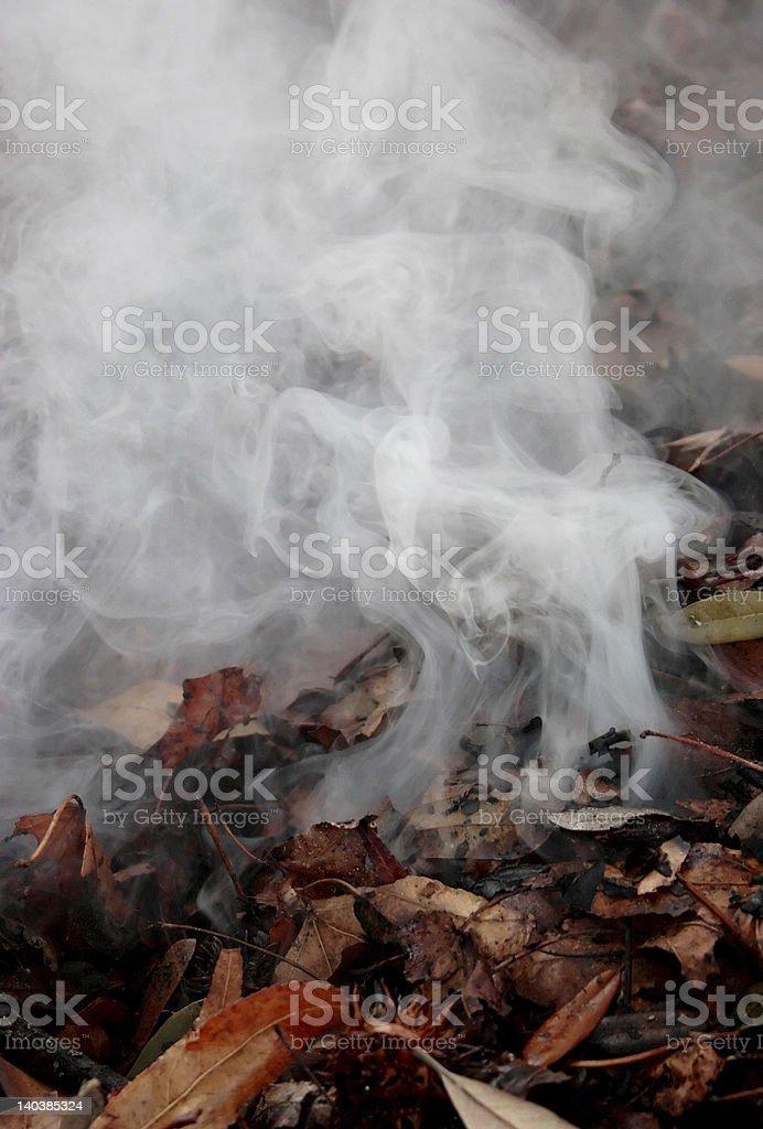 Curling Smoke royalty-free stock photo