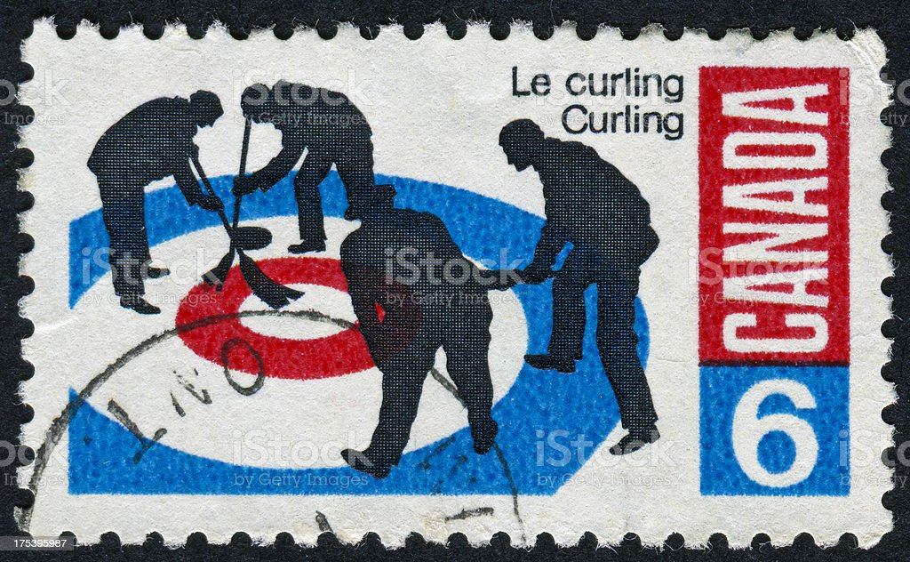 Curling Stamp stock photo