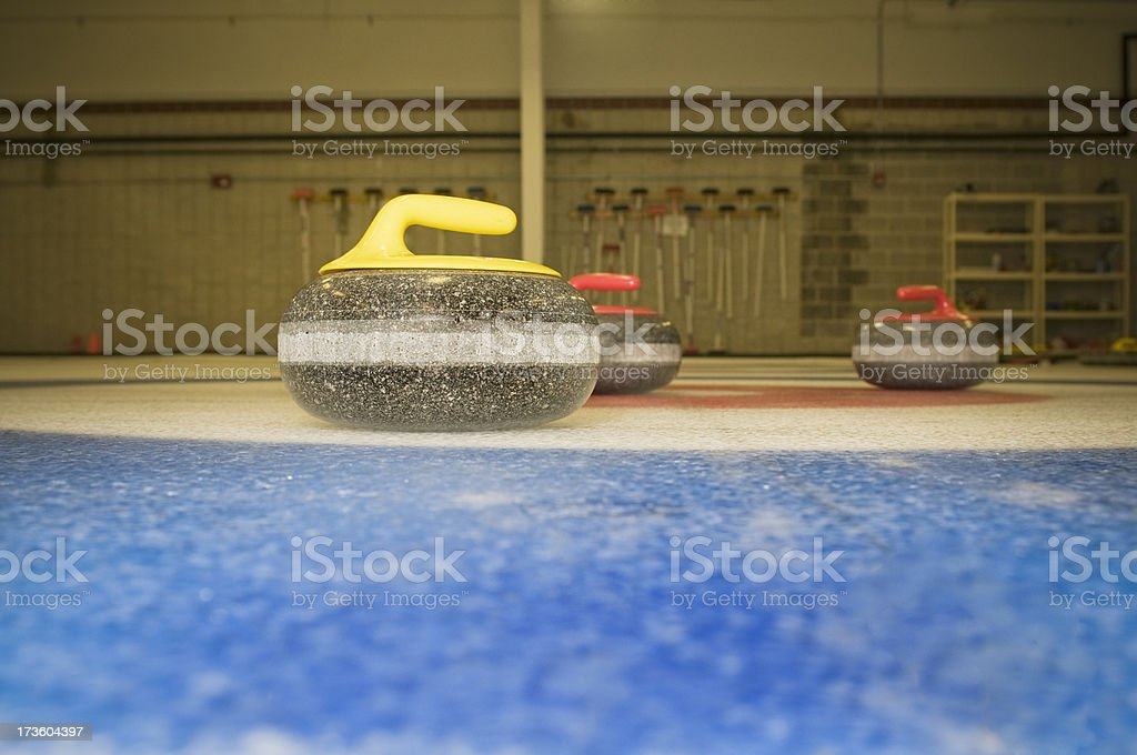 Curling Stone in House stock photo