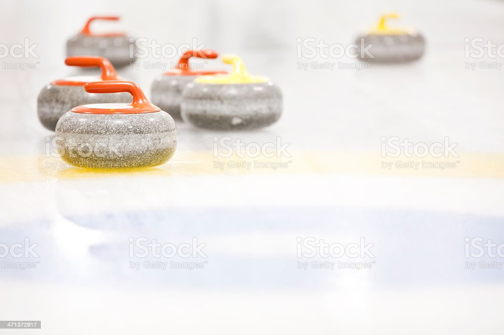 Curling Stones royalty-free stock photo