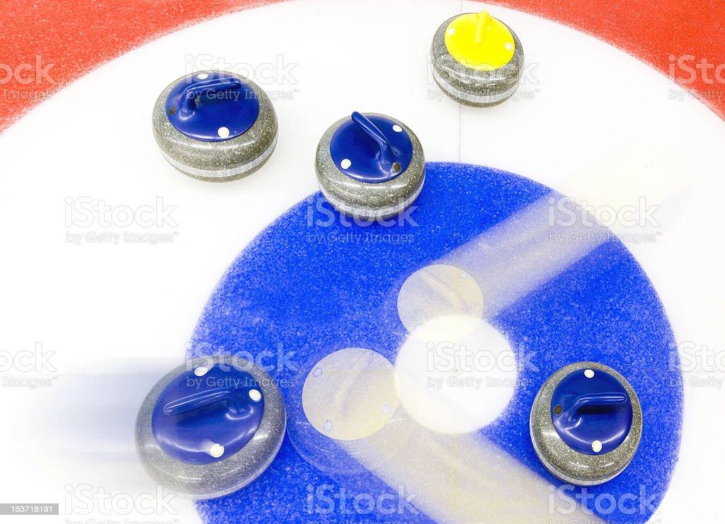 Curling tactics stock photo