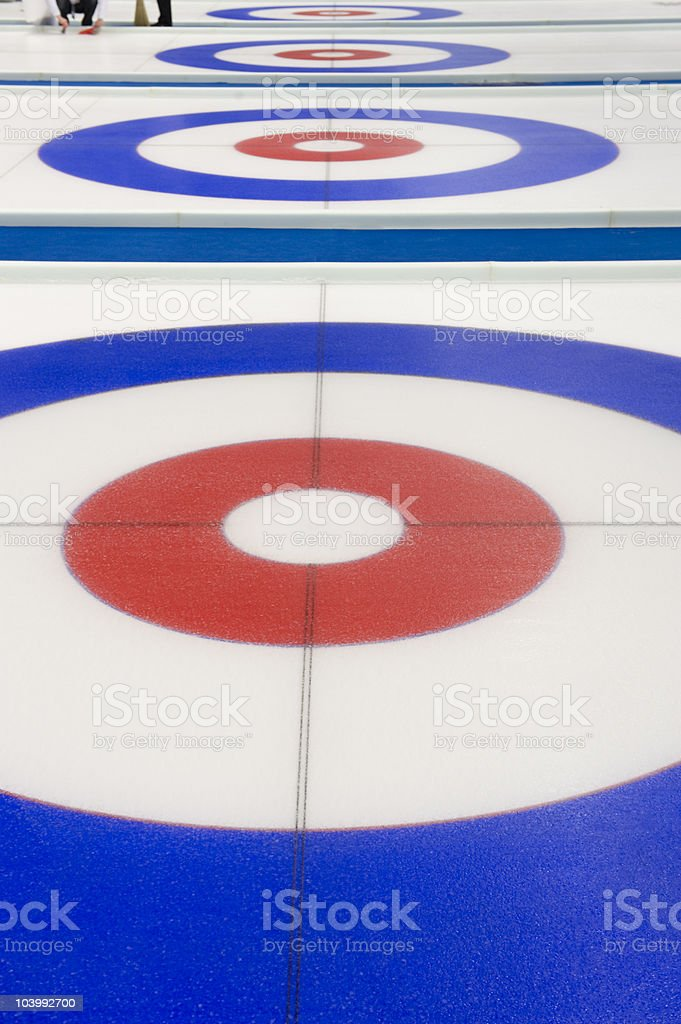 Curling target house stock photo