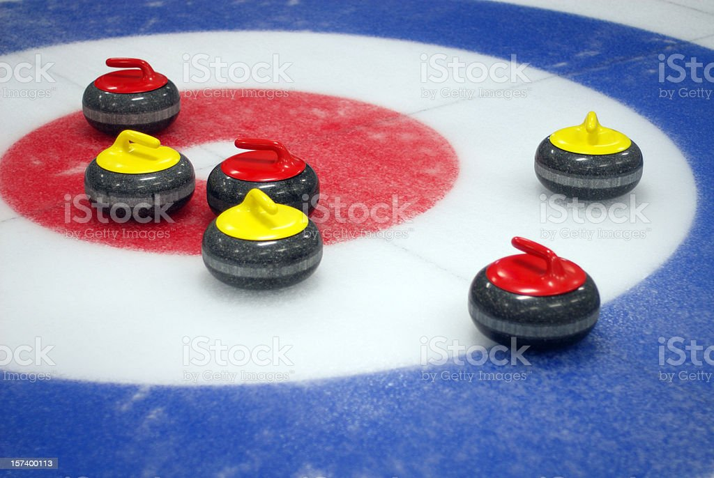 Curling Target royalty-free stock photo