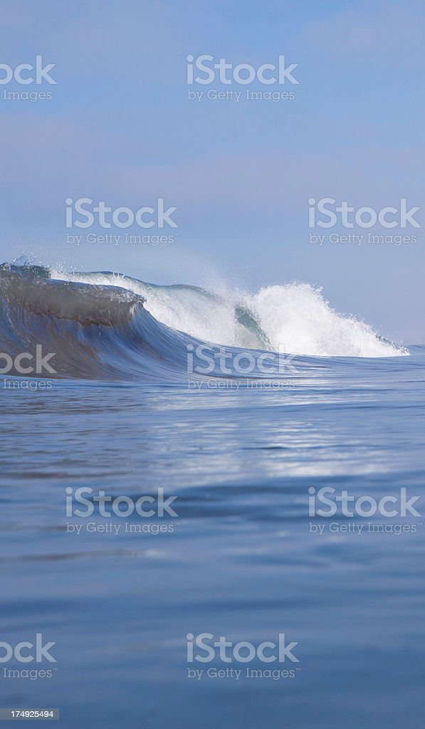 Curling wave royalty-free stock photo