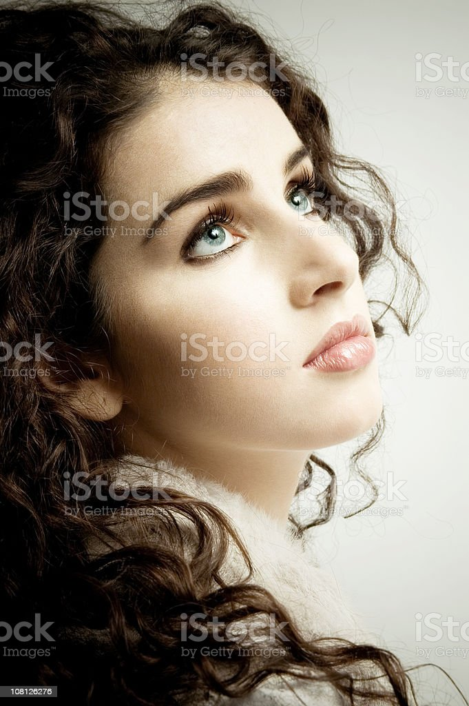 Curly Angel stock photo