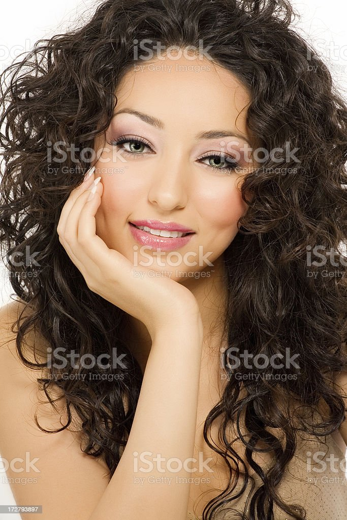 Curly Beauty royalty-free stock photo