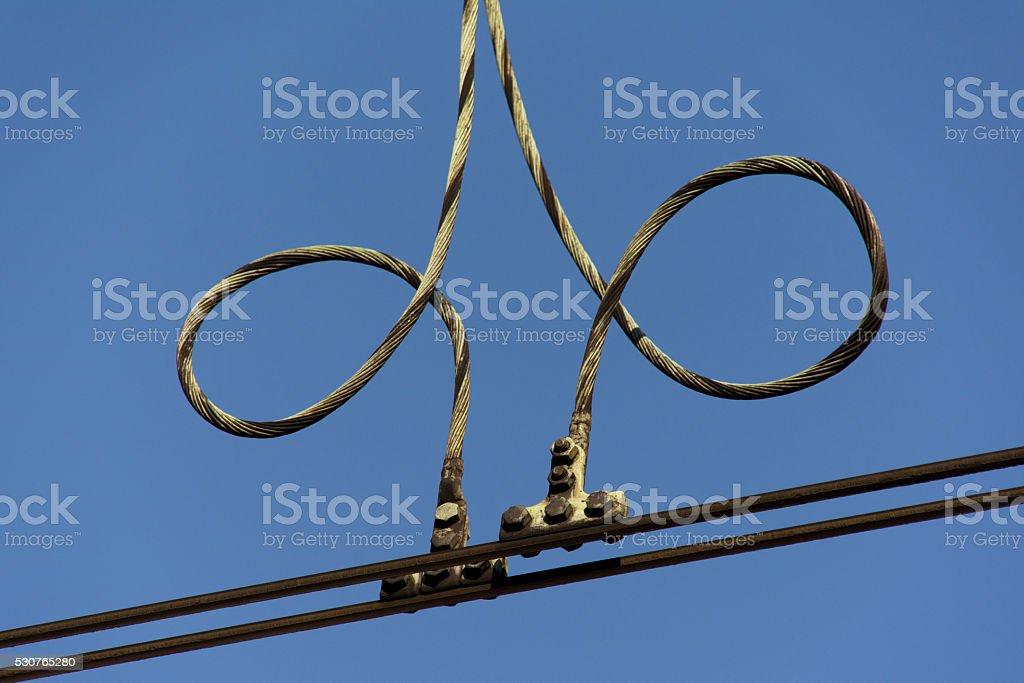 Curly catenary stock photo