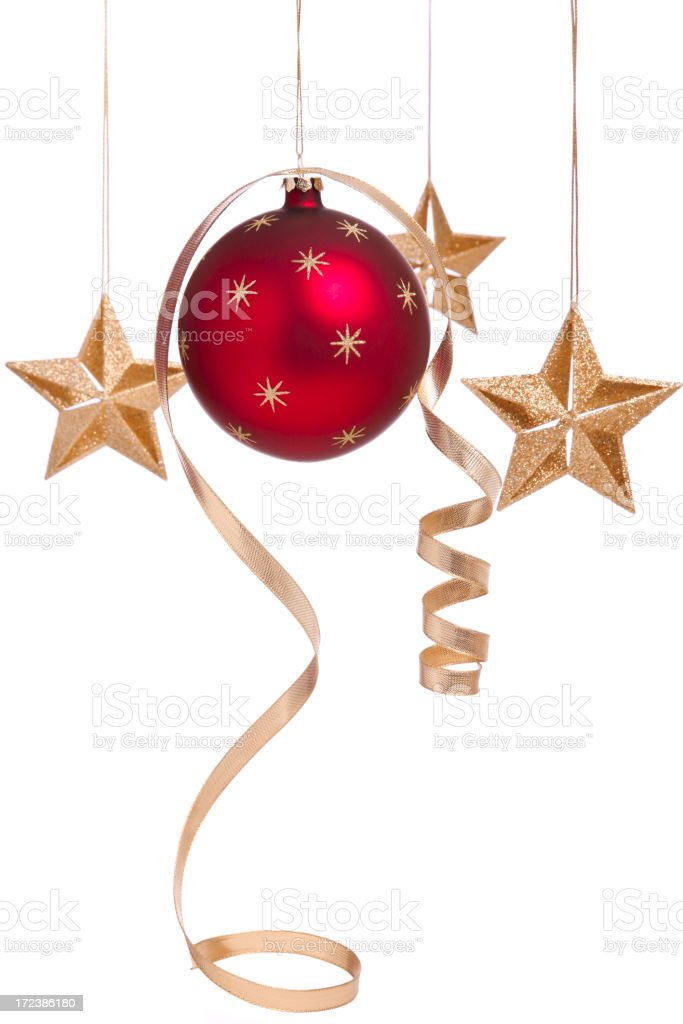 Curly Christmas Bauble and Stars (XL) royalty-free stock photo