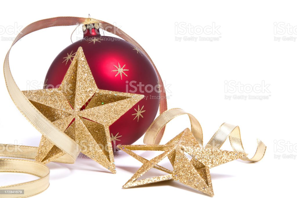 Curly Christmas Bauble royalty-free stock photo