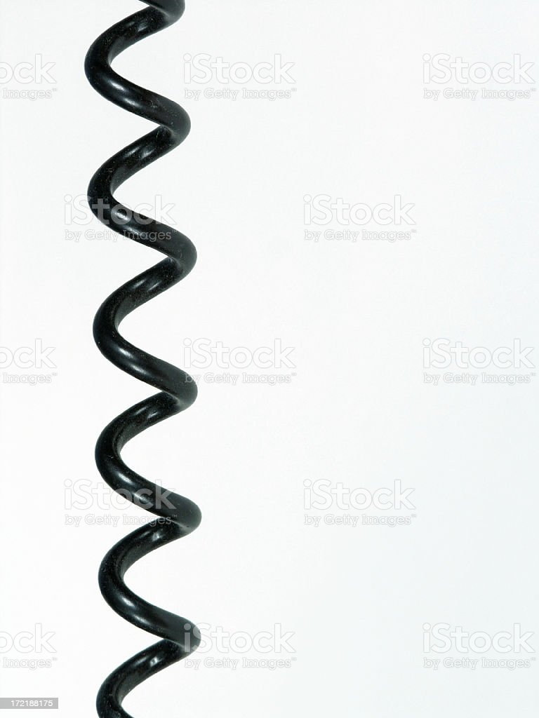 Curly cord stock photo