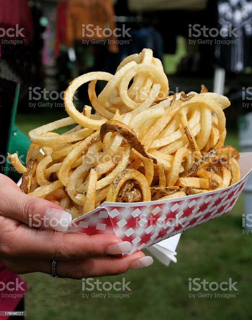 Curly Fries royalty-free stock photo
