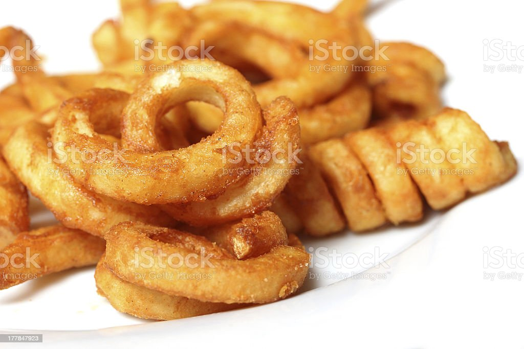 curly fries stock photo
