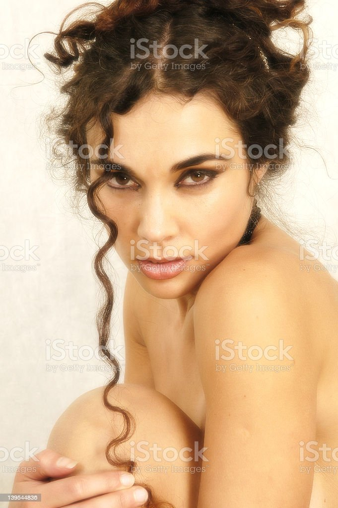 Curly Hair 05 royalty-free stock photo