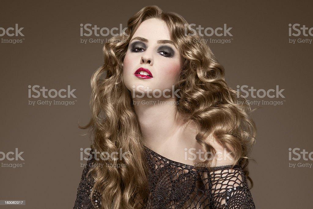 Curly Hair Beauty royalty-free stock photo
