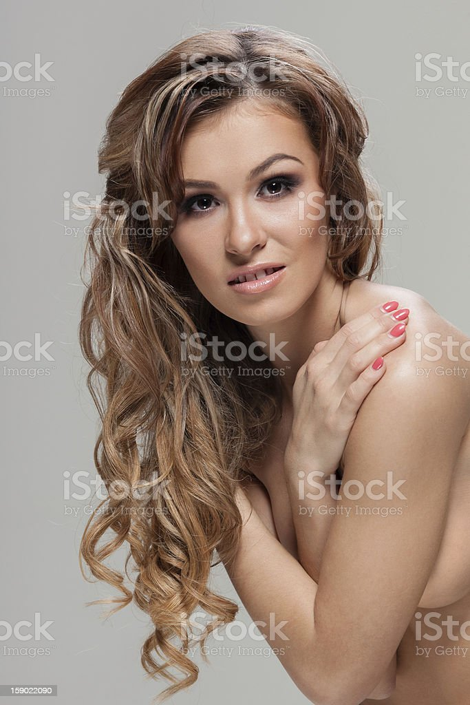 Curly hair royalty-free stock photo