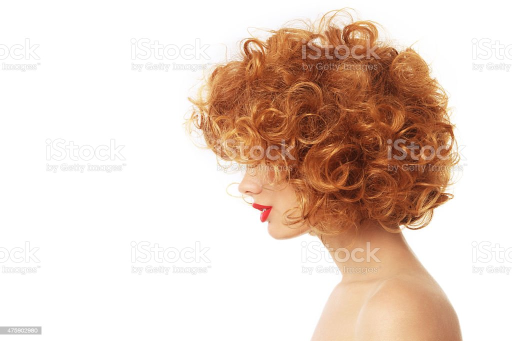 Curly hair stock photo